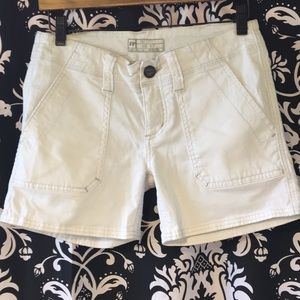 FREE PEOPLE Shorts. Button front with Cargo pocket